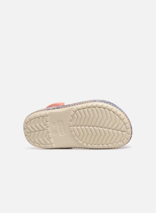 Sandales et nu-pieds Crocs Crocband Gallery Clog K Blanc vue haut