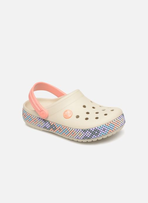 Sandales et nu-pieds Crocs Crocband Gallery Clog K Blanc vue détail/paire