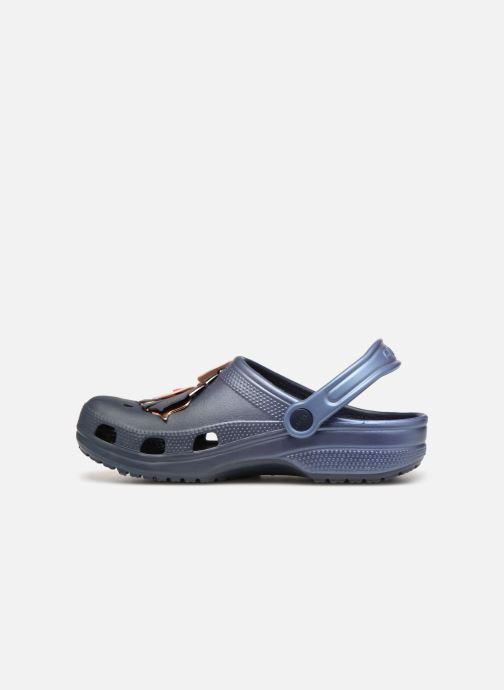 Sandales et nu-pieds Crocs Classic Botanical Floral Clog Bleu vue face