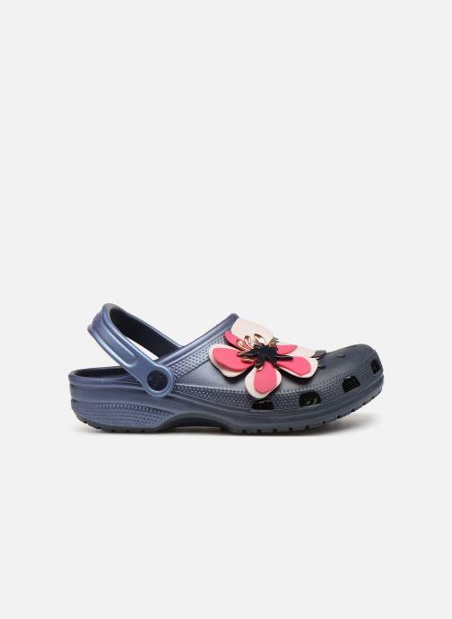 Sandalen Crocs Classic Botanical Floral Clog Blauw achterkant