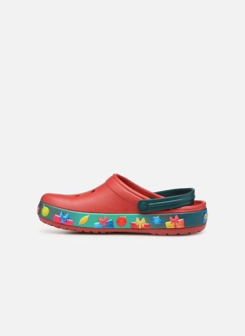 Sandals Crocs Crocband Lights Holiday Clog Red front view