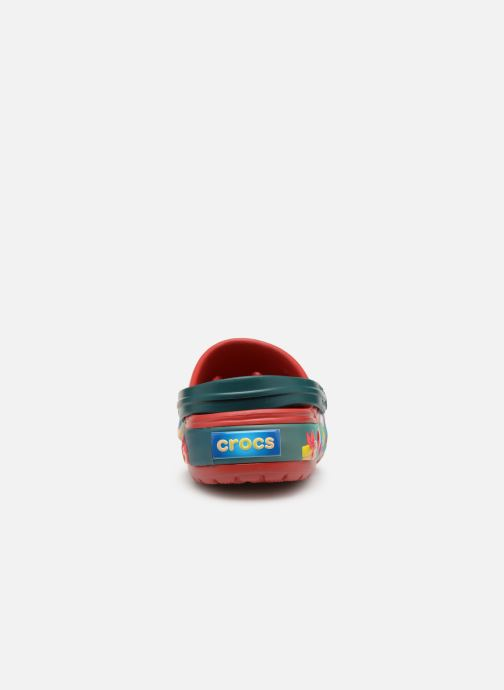 Sandals Crocs Crocband Lights Holiday Clog Red view from the right
