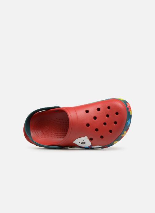 Sandales et nu-pieds Crocs Crocband Lights Holiday Clog Rouge vue gauche