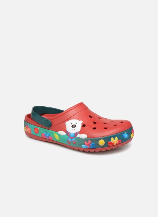 Sandals Crocs Crocband Lights Holiday Clog Red detailed view/ Pair view