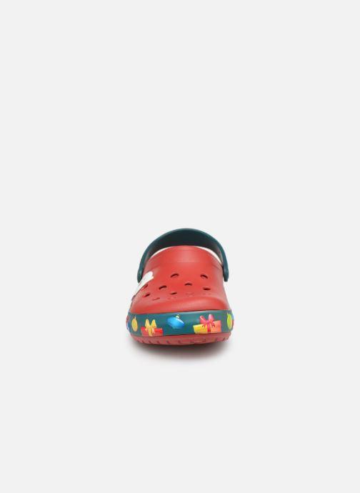 Sandales et nu-pieds Crocs Crocband Lights Holiday Clog W Bleu vue portées chaussures