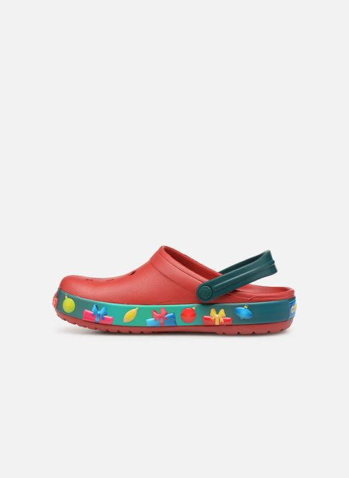 Sandalias Crocs Crocband Lights Holiday Clog W Azul vista de frente