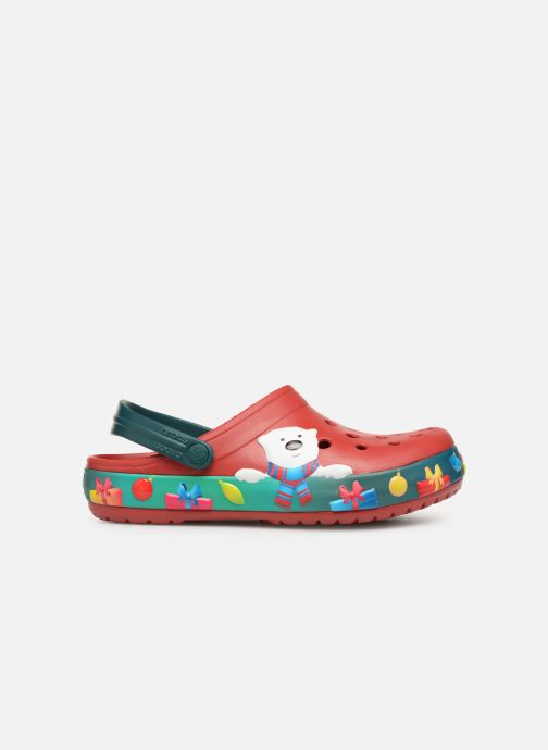 Sandalias Crocs Crocband Lights Holiday Clog W Azul vistra trasera