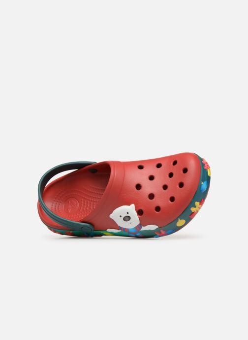Sandales et nu-pieds Crocs Crocband Lights Holiday Clog W Bleu vue gauche