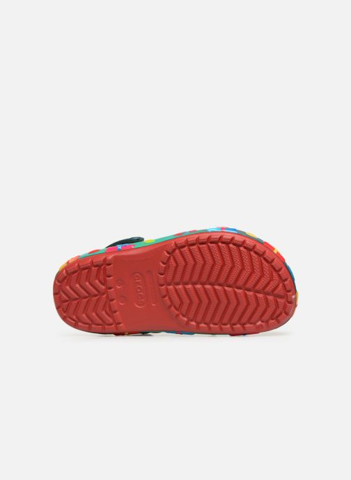 Sandales et nu-pieds Crocs Crocband Lights Holiday Clog W Bleu vue haut