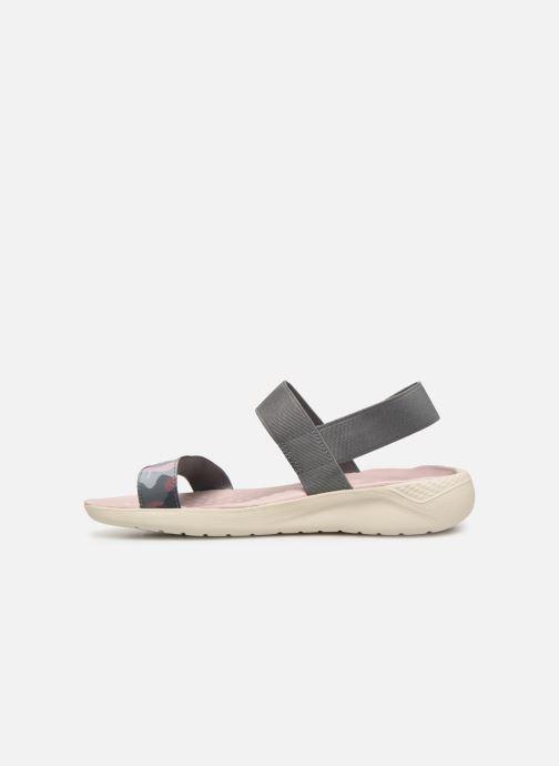 Sandalias Crocs LiteRide Graphic Sandal W Gris vista de frente