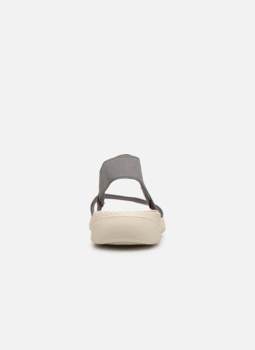 Sandales et nu-pieds Crocs LiteRide Graphic Sandal W Gris vue droite