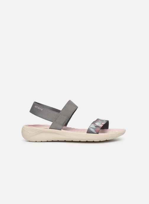 Sandales et nu-pieds Crocs LiteRide Graphic Sandal W Gris vue derrière