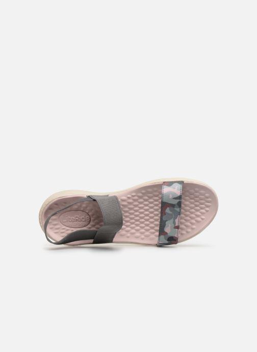Sandales et nu-pieds Crocs LiteRide Graphic Sandal W Gris vue gauche
