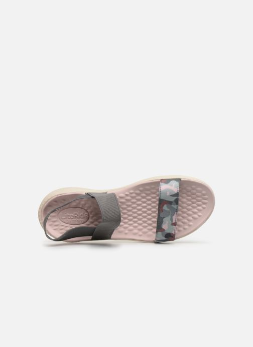 Sandalias Crocs LiteRide Graphic Sandal W Gris vista lateral izquierda