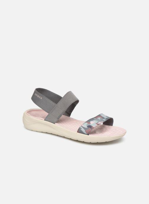 Sandales et nu-pieds Crocs LiteRide Graphic Sandal W Gris vue détail/paire