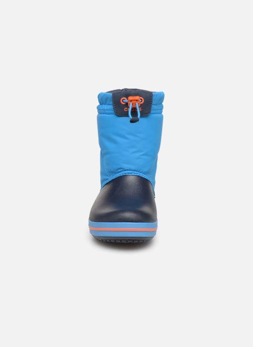 Scarpe sportive Crocs Crocband LodgePoint Boot K Azzurro modello indossato