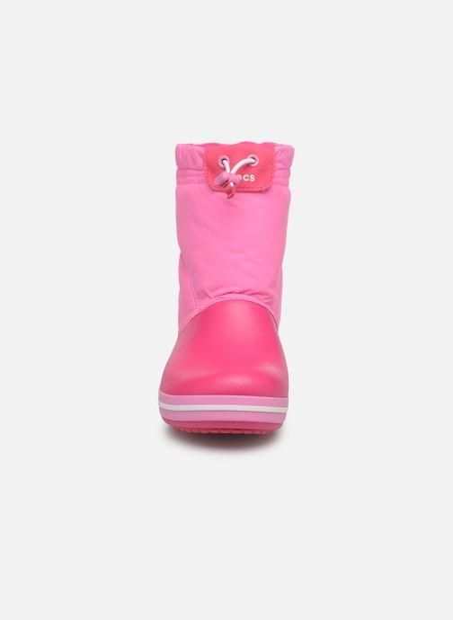 Chaussures de sport Crocs Crocband LodgePoint Boot K Rose vue portées chaussures