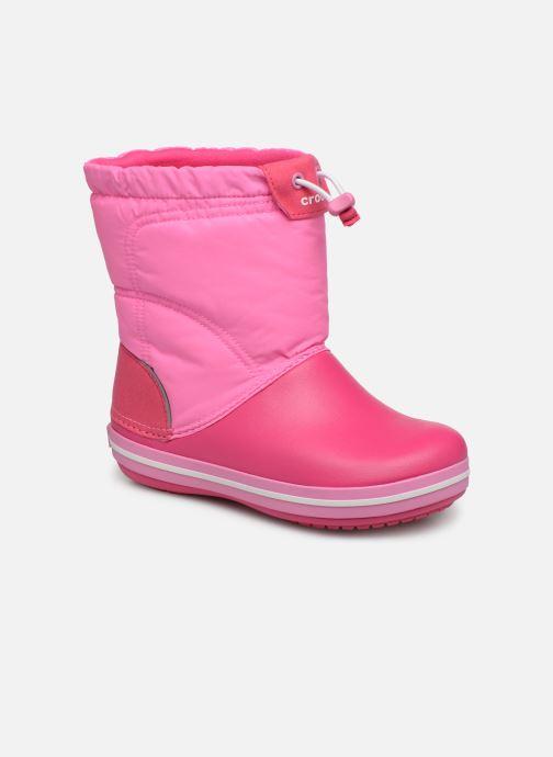 Chaussures de sport Crocs Crocband LodgePoint Boot K Rose vue détail/paire