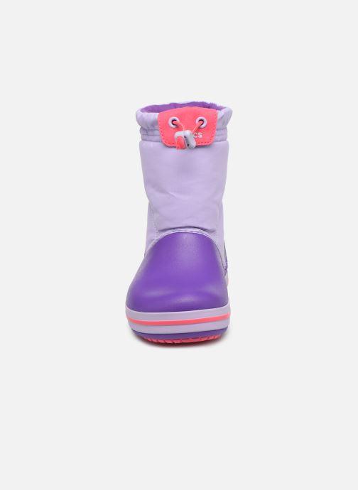 Chaussures de sport Crocs Crocband LodgePoint Boot K Violet vue portées chaussures