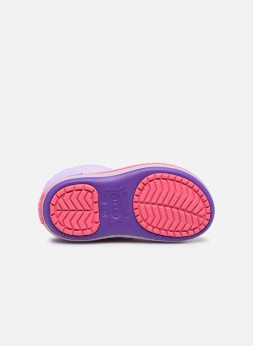 Chaussures de sport Crocs Crocband LodgePoint Boot K Violet vue haut