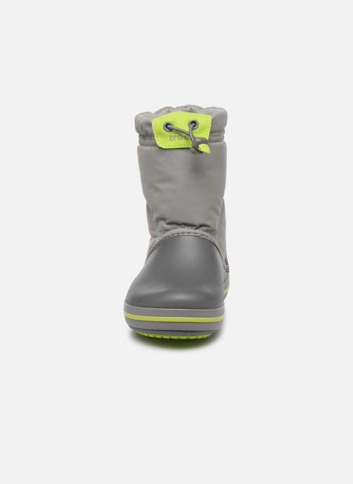 Sportschuhe Crocs Crocband LodgePoint Boot K grau schuhe getragen