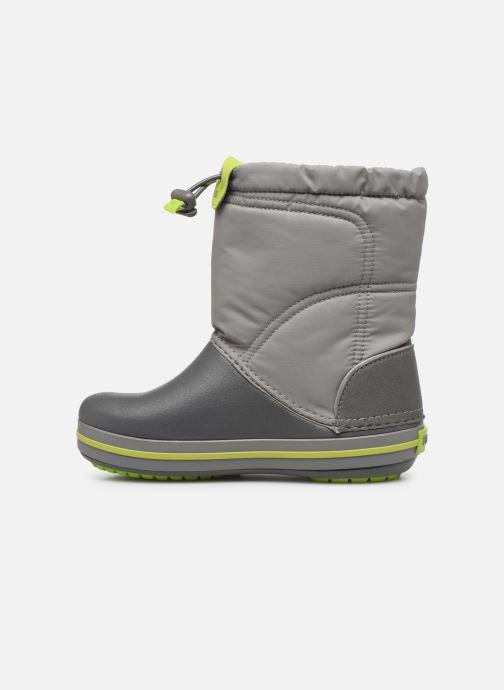 Sportschuhe Crocs Crocband LodgePoint Boot K grau ansicht von vorne