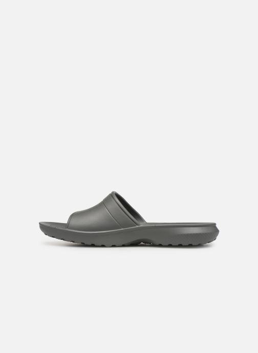 Sandales et nu-pieds Crocs Classic Slide Gris vue face