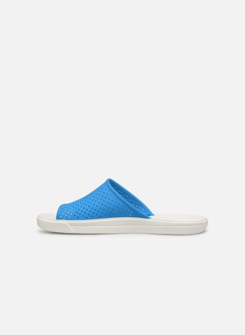 Sandales et nu-pieds Crocs CitiLane Roka Slide M Bleu vue face