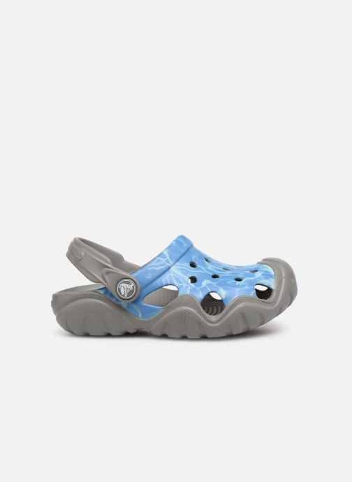 Sandalias Crocs Swiftwater Graphic Clog K Azul vistra trasera