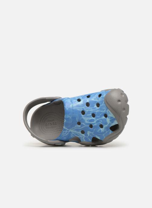Sandales et nu-pieds Crocs Swiftwater Graphic Clog K Bleu vue gauche