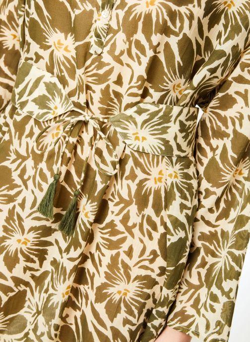 Vêtements La Cabane de Stella 02.ROBE CHEMISIER IMP IBIZA Vert vue face