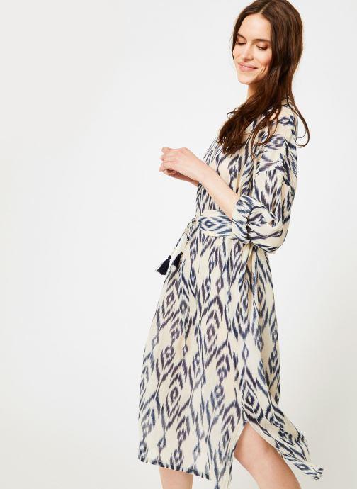 Vêtements La Cabane de Stella 01.ROBE CHEMISIER IMP MEKONG Bleu vue détail/paire