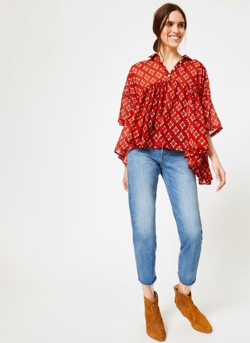 Vêtements La Cabane de Stella 01.TUNIQUE COL V SHIBURI Rouge vue bas / vue portée sac