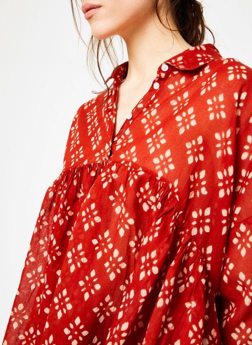 Vêtements La Cabane de Stella 01.TUNIQUE COL V SHIBURI Rouge vue face