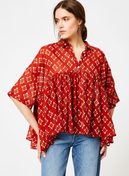 Vêtements La Cabane de Stella 01.TUNIQUE COL V SHIBURI Rouge vue droite