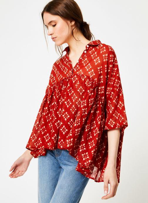 Vêtements La Cabane de Stella 01.TUNIQUE COL V SHIBURI Rouge vue détail/paire