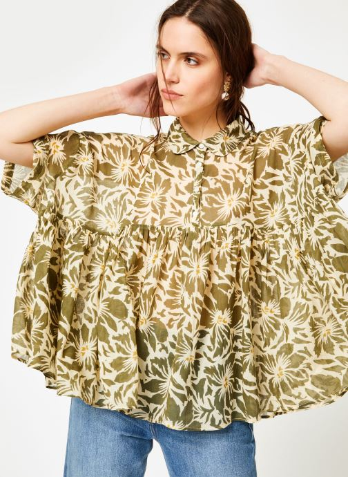 Vêtements La Cabane de Stella 02.TUNIQUE IMP IBIZA Vert vue détail/paire
