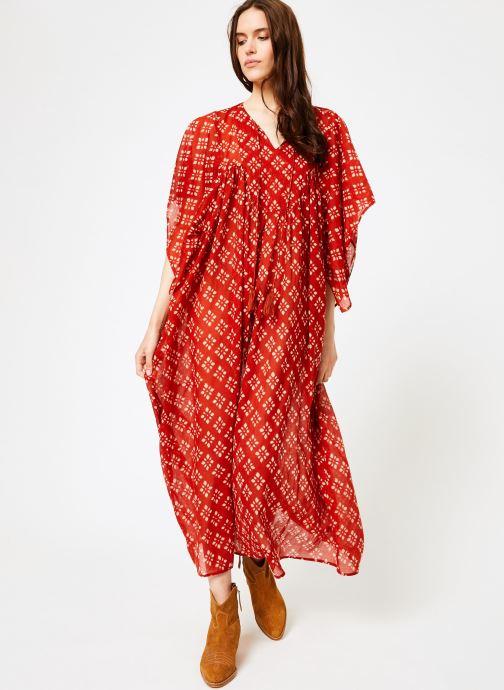 Vêtements La Cabane de Stella 01.ROBE LG AMPLE SHIBURI Rouge vue bas / vue portée sac