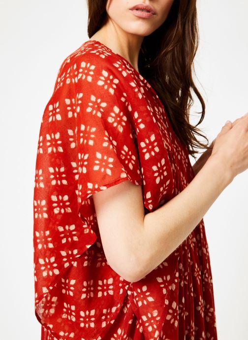 Vêtements La Cabane de Stella 01.ROBE LG AMPLE SHIBURI Rouge vue face