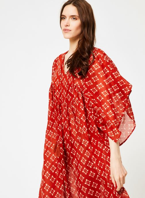 Vêtements La Cabane de Stella 01.ROBE LG AMPLE SHIBURI Rouge vue droite