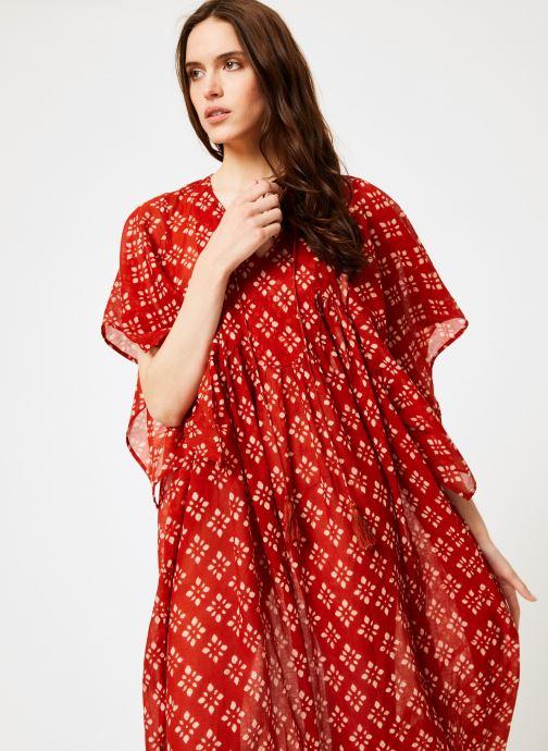 Vêtements La Cabane de Stella 01.ROBE LG AMPLE SHIBURI Rouge vue détail/paire