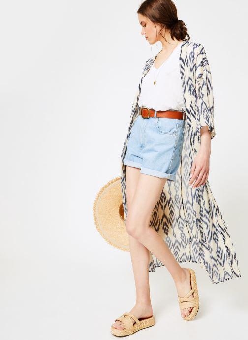 Vêtements La Cabane de Stella 01.KIMONO IMP MEKONG Bleu vue bas / vue portée sac