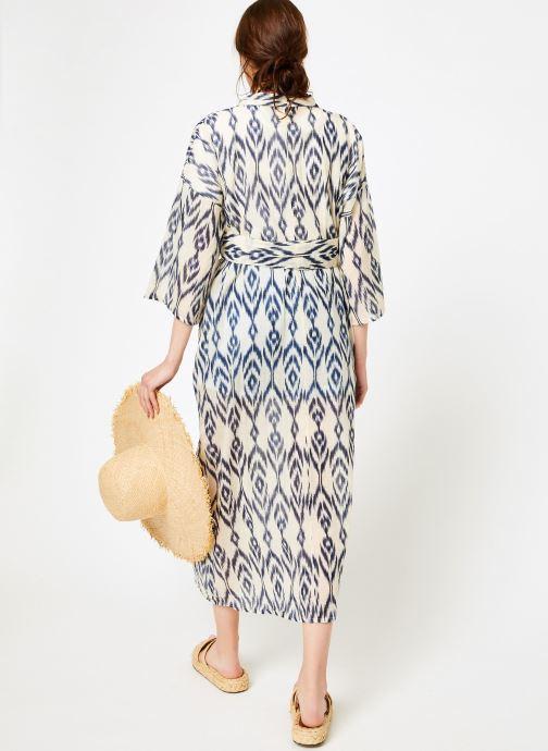 Vêtements La Cabane de Stella 01.KIMONO IMP MEKONG Bleu vue portées chaussures