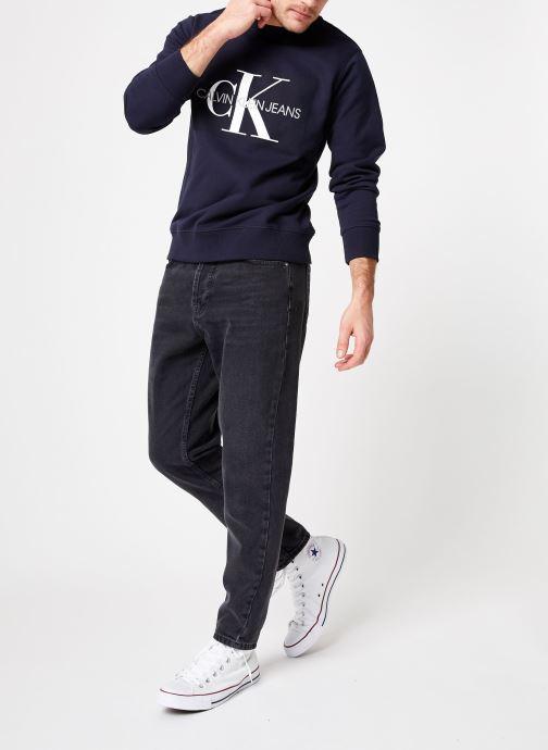 Vêtements Calvin Klein Jeans Core Monogram Logo Sweatshirt Bleu vue bas / vue portée sac
