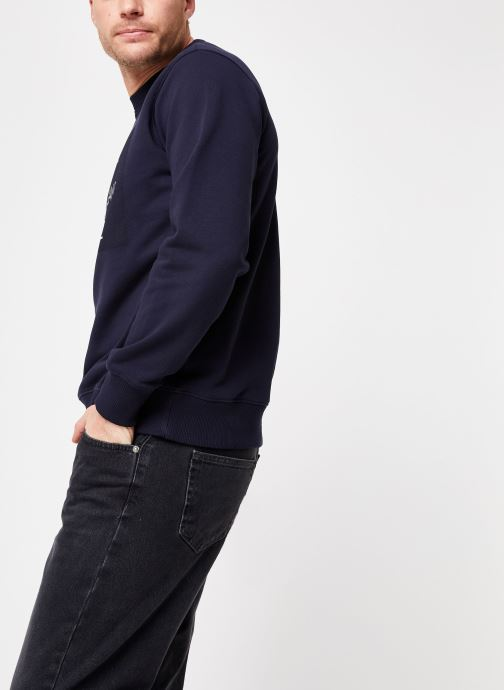 Vêtements Calvin Klein Jeans Core Monogram Logo Sweatshirt Bleu vue droite