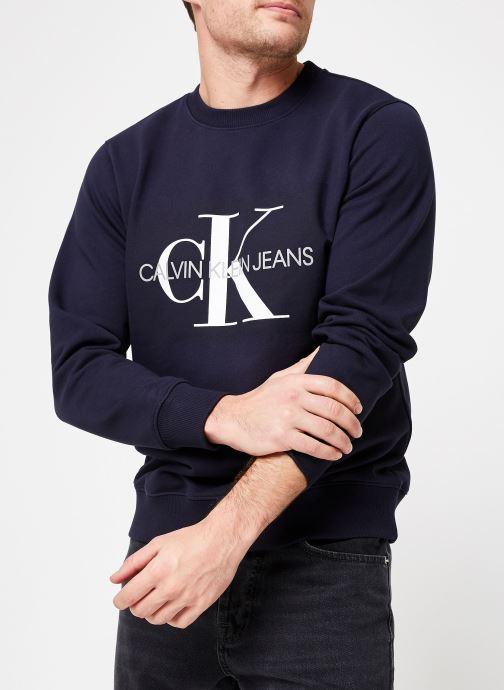 Vêtements Calvin Klein Jeans Core Monogram Logo Sweatshirt Bleu vue détail/paire