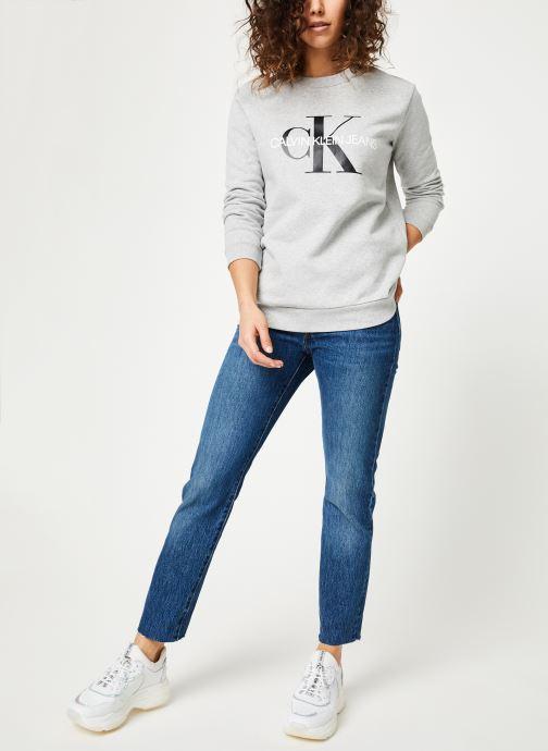 Kleding Calvin Klein Jeans Core Monogram Logo Sweatshirt Grijs onder