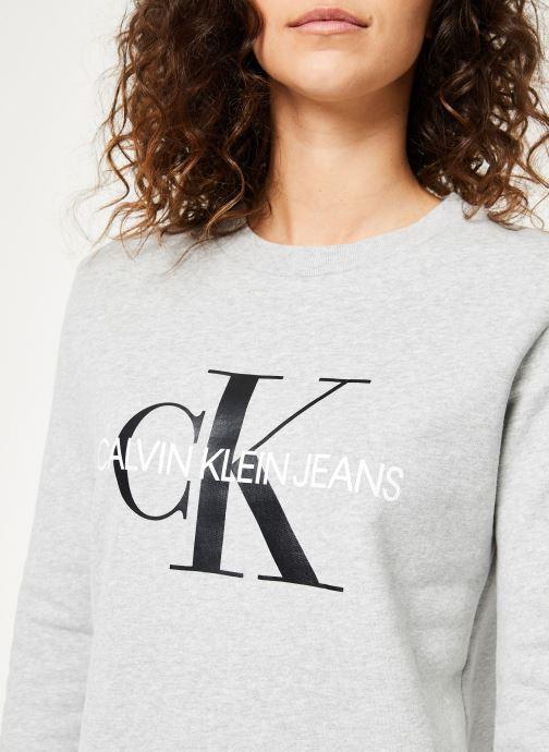 Vêtements Calvin Klein Jeans Core Monogram Logo Sweatshirt Gris vue face