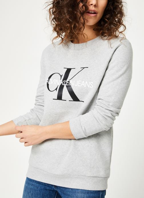Kleding Calvin Klein Jeans Core Monogram Logo Sweatshirt Grijs detail