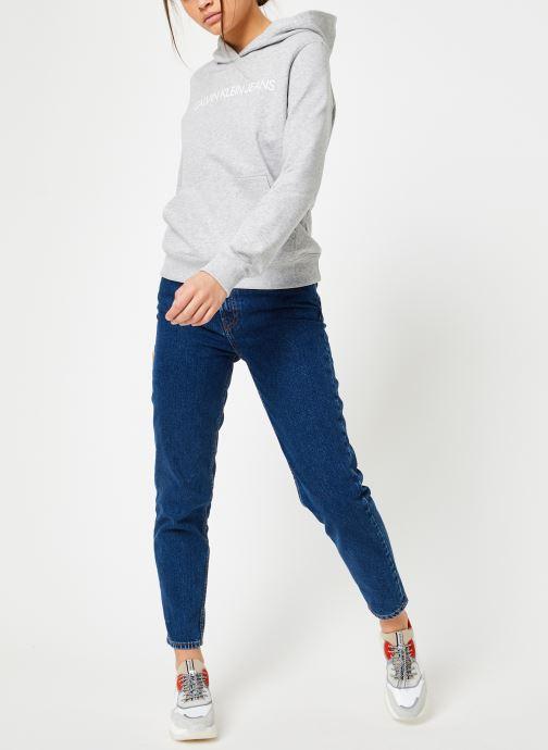 Vêtements Calvin Klein Jeans Core Monogram Logo Sweatshirt Noir vue bas / vue portée sac